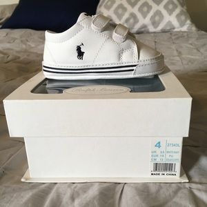 Polo Ralph Lauren baby boy shoes, white